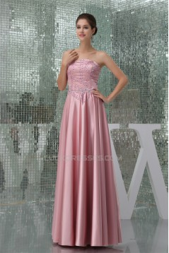 A-Line Strapless Beading Floor-Length Mother of the Bride Dresses w2040091