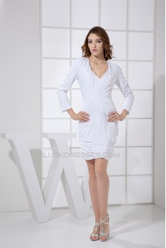Ruched Long Sleeves Sheath/Column Mother of the Bride Dresses 2040092