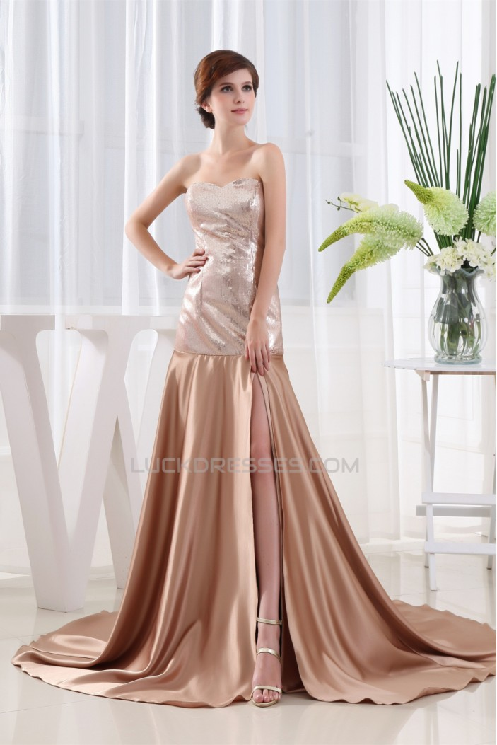 A-Line Sweetheart Sleeveless Sequins Mother of the Bride Dresses 2040100