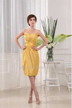Taffeta Sheath/Column Spaghetti Straps Mother of the Bride Dresses 2040101