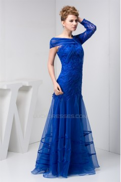 A-Line Beading Lace Organza Evening Mother of the Bride Dresses 2040111