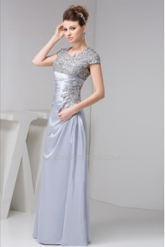 A-Line Beading Long Evening Mother of the Bride Dresses 2040112