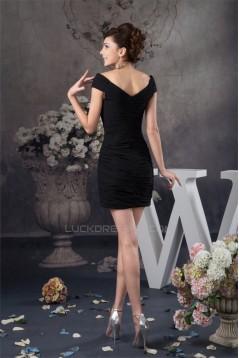 Sheath/Column Off-the-Shoulder Chiffon V-Neck Mother of the Bride Dresses 2040123