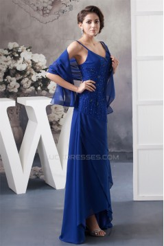A-Line Beading Chiffon Sleeveless Spaghetti Straps Mother of the Bride Dresses with A Wrap 2040124