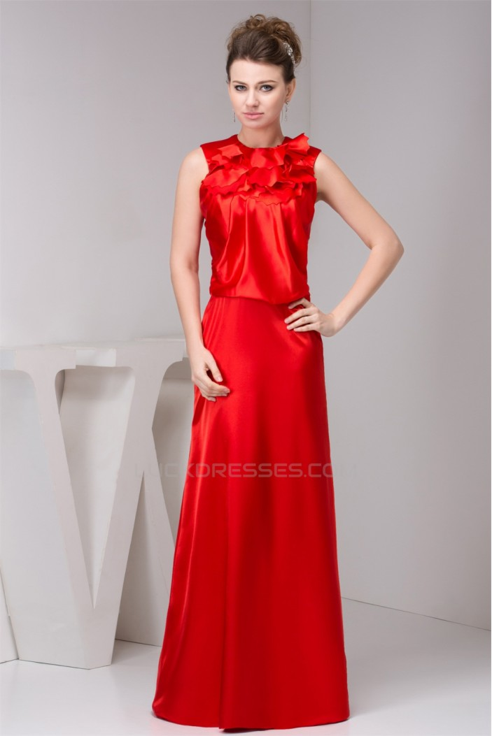 Floor-Length Sleeveless High-Neck Ruffles Mother of the Bride Dresses 2040127
