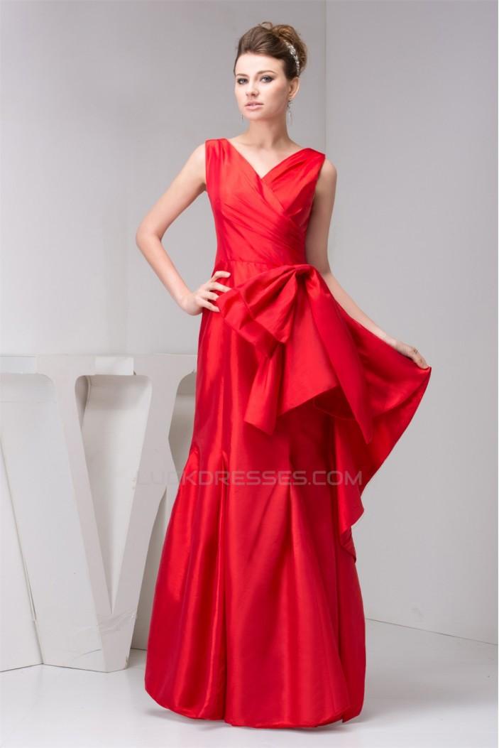 Floor-Length V-Neck A-Line Bows Sleeveless Mother of the Bride Dresses 2040128