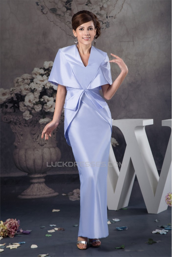 Half Elbow Length Taffeta Sheath/Column Mother of the Bride Dresses 2040129
