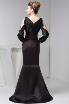 Mermaid/Trumpet Pleats Long Sleeve Mother of the Bride Dresses 2040135
