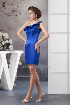Short/Mini One-Shoulder Beading Mother of the Bride Dresses 2040136
