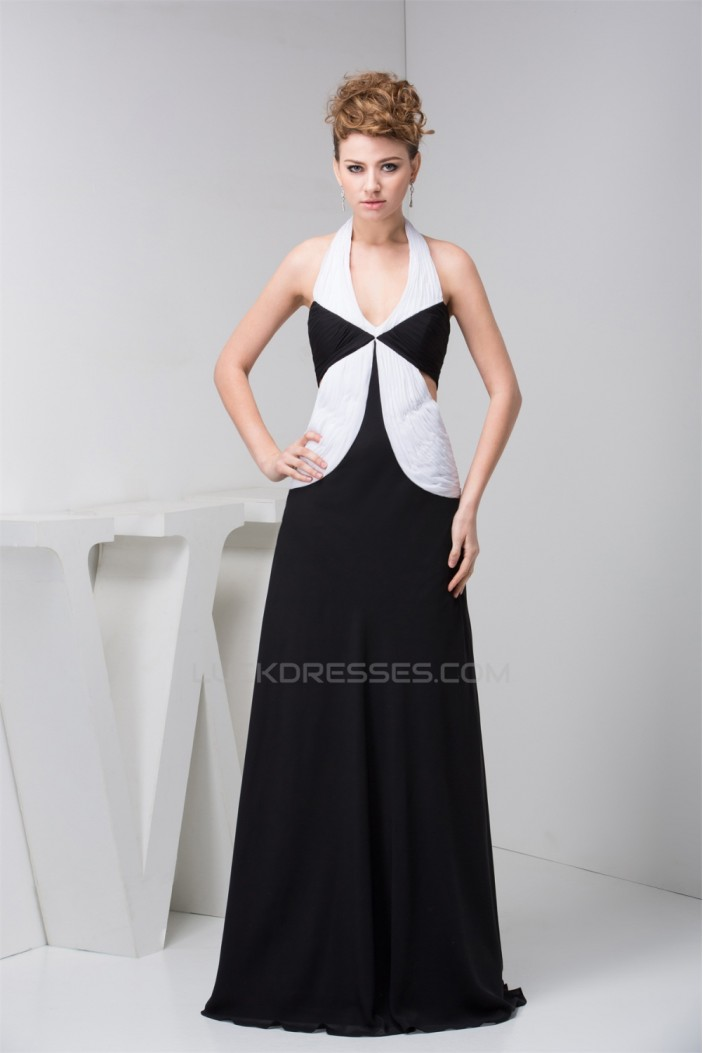 A-Line Floor-Length Sleeveless Halter Pleats Mother of the Bride Dresses 2040138