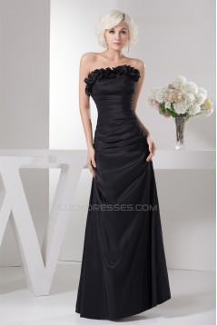 A-Line Strapless Ruffles Floor-Length Mother of the Bride Dresses with A 3/4 Sleeves Jacket 2040142