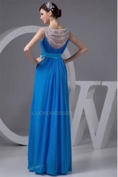 Elegant Sheath/Column Beaded Scoop Chiffon Sleeveless Mother of the Bride Dresses 2040143