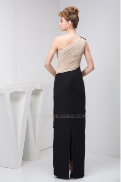 Sheath/Column Floor-Length Chiffon One-Shoulder Mother of the Bride Dresses 2040146