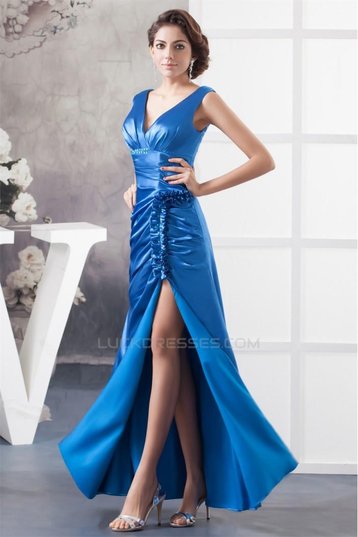A-Line Floor-Length Ruffles V-Neck Mother of the Bride Dresses 2040152