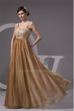 A-Line Lace Chiffon Spaghetti Straps Long Mother of the Bride Dresses 2040153