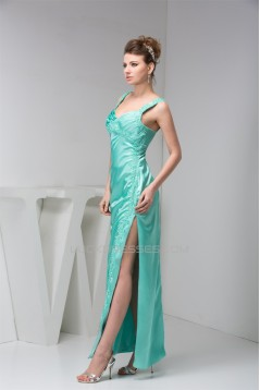 Spaghetti Straps Ruched Floor-Length Silk like Satin Mother of the Bride Dresses 2040157