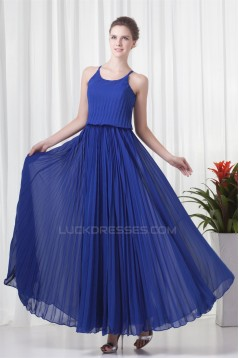 Ankle-Length A-Line Scalloped Ruffles Chiffon Mother of the Bride Dresses 2040164