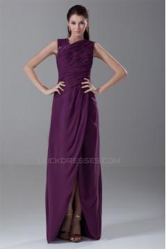 Asymmetrical Sheath/Column Long Chiffon Grape Mother of the Bride Dresses 2040166