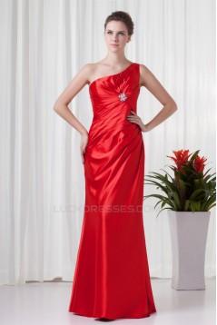 Sheath/Column One-Shoulder Beading Floor-Length Mother of the Bride Dresses 2040168