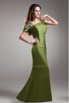 Beading Short Sleeve Sheath/Column Floor-Length Mother of the Bride Dresses 2040170