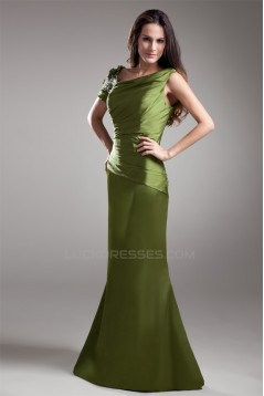 Beading Short Sleeve Sheath/Column Floor-Length Mother of the Bride Dresses 2040170