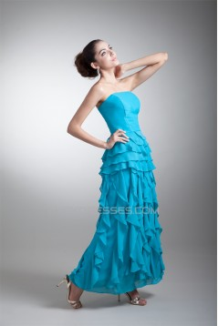 Cascading Ruffles Ankle-Length Chiffon Mother of the Bride Dresses 2040171