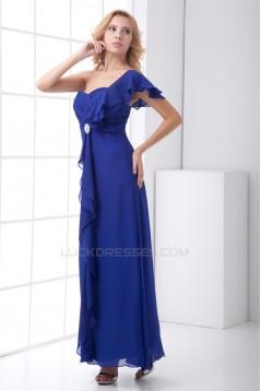 Sheath/Column Criss Cross One-Shoulder Ankle-Length Mother of the Bride Dresses 2040175