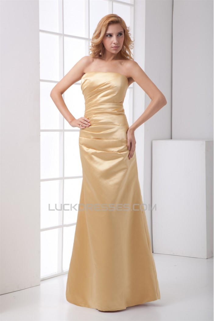 A-Line Floor-Length Sleeveless Strapless Mother of the Bride Dresses 2040177