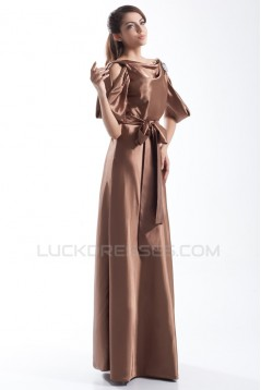 Sheath/Column Floor-Length Bateau Half Elbow Length Mother of the Bride Dresses 2040184