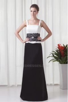 Sheath/Column Satin Sleeveless Straps Lace Mother of the Bride Dresses 2040185