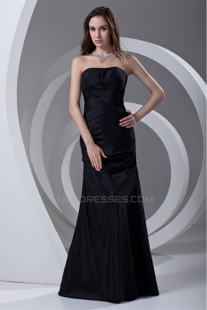 Long Black Strapless Mother of the Bride Dresses 2040194