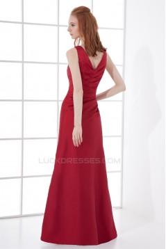 A-Line Sleeveless Taffeta Floor-Length V-Neck Mother of the Bride Dresses 2040197