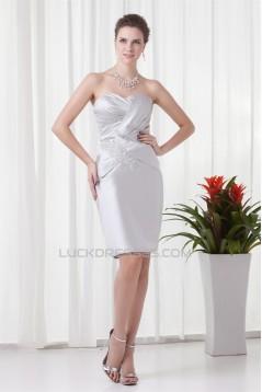 Sheath/Column Soft Sweetheart Half Elbow Length Mother of the Bride Dresses 2040198