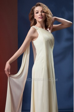 A-Line One-Shoulder Long Chiffon Mother of the Bride Dresses 2040202