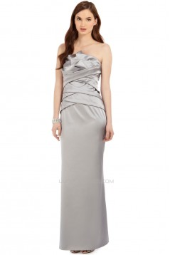 Sheath/Column Strapless Long Mother of the Bride Dresses 2040203
