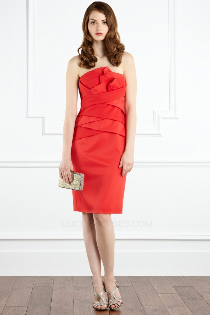 Strapless Knee-Length Mother of the Bride Dresses 2040209