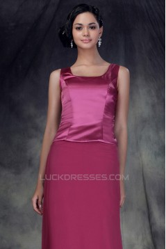 Sheath/Column Long Mother of the Bride Dresses with A Jacket 2040212