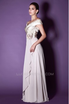 A-Line Off-the-Shoulder Long Mother of the Bride Dresses 2040214
