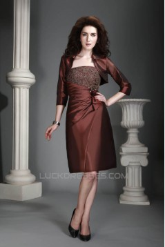 Sheath Knee-Length Mother of the Bride Dresses with A Jacket 2040215