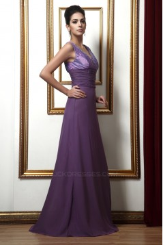 A-Line V-Neck Beaded Long Mother of the Bride Dresses with A Jacket 2040225