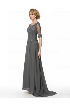 Half Sleeves Lace Chiffon Mother of The Bride Dresses 3040003