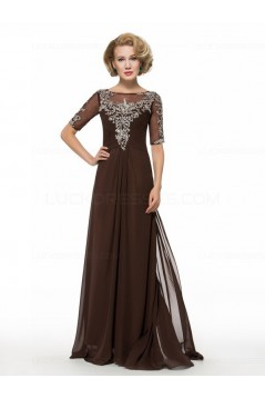 Short Sleeve Chiffon Floor Length Mother of The Bride Dresses 3040006