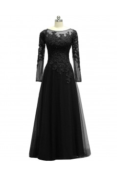 Long Sleeves Beaded Lace Appliques Mother of The Bride Dresses 602008
