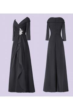 A-Line V-Neck Long Mother of The Bride Dresses 602011