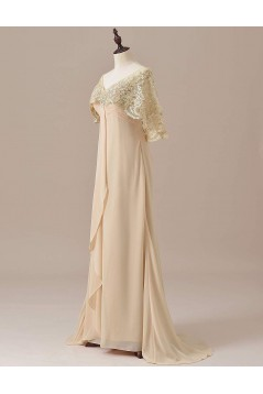 Chiffon Lace V-Neck Mother of The Bride Dresses 602012