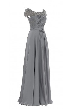 Elegant Beaded Long Mother of The Bride and Groom Dresses 602021