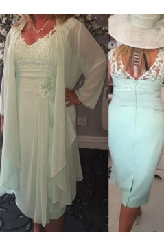 Affordable V-Neck Lace Chiffon Mother of The Bride and Groom Dresses 602022