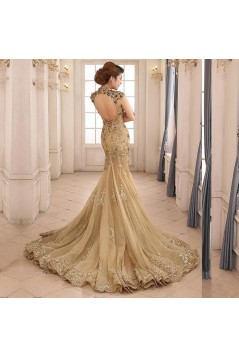 Mermaid Lace Appliques Long Mother of The Bride and Groom Dresses 602028