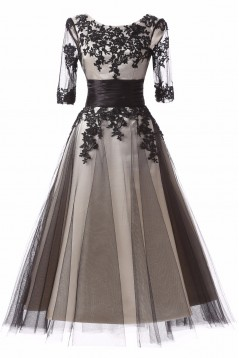 Lace Appliques and Tulle Mother of The Bride and Groom Dresses 602035