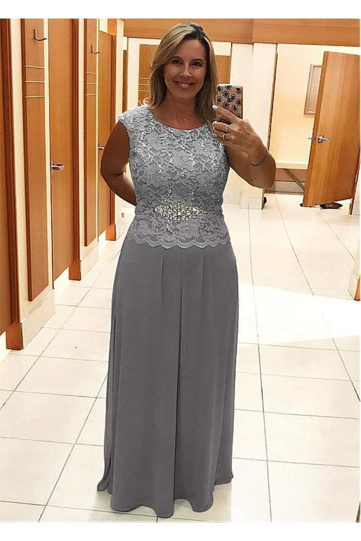 Elegant Sleeveless Beaded Lace Mother of The Bride Dresses 602049
